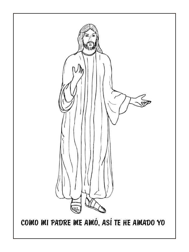 Jesus de nazaret para colorear